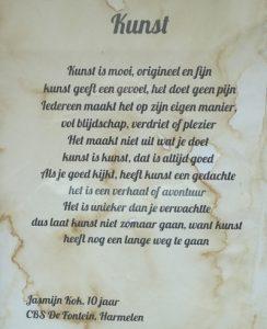 Gedicht Jasmijn Kok