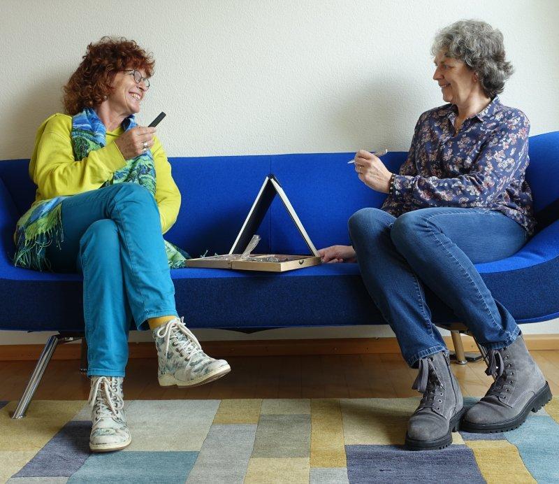 Winny van Rij en Marijke Abbink