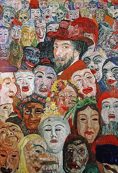 Afbeelding 1. James Ensor, zelfsportret met maskers